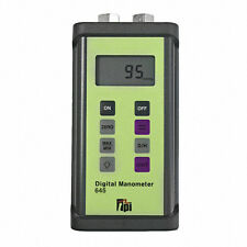 TPI 645NPT Dual Input Digital Manometer w/Stainless Steel Compression Fittings
