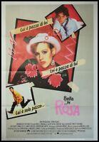 "PRETTY IN PINK 1986 Original Movie Poster 39x55"" 2Sh Italian DEUTCH RINGWALD"