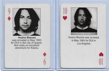 BOTH 2003 STARZ BEHIND BARZ ~ KEANU REEVES PLAYING CARDS LOT ~ MUG SHOT