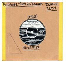 "DUANE EDDY.BECAUSE THEY'RE YOUNG / REBEL WALK.UK ORIG 7"".EX"