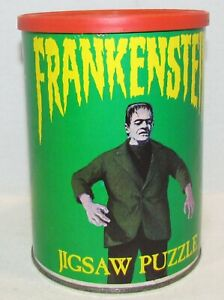 1974 APC Frankenstein Puzzle in Canister, COMPLETE
