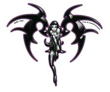 Sexy GOTH PIXIE Obsidian FAIRY Faery Sticker FAERIE Fae Decal #SexyPinUpStickers