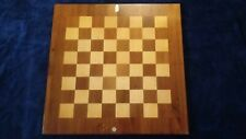 "DUEKE No. 64 Grandmaster Chess Board 23"" Solid Birch & Walnut Made in USA"