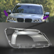 For BMW X3 F25 2011 2012 2013 Headlight Headlamp Lens Cover Right&Left 2pcs