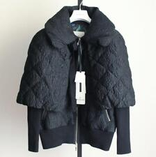 MONCLER WOMEN JACKET COAT NEW WITH TAGS LARGE 2 RARE AVERY DOWN BLACK BRAND F/S