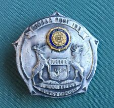 Antique Vintage American Legion Badge Post 193 Lansing Michigan Tuebor RARE