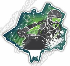 "Snowmobile Ski-Doo Motocross Rider Winter Car Bumper Vinyl Sticker Decal 4.6"""