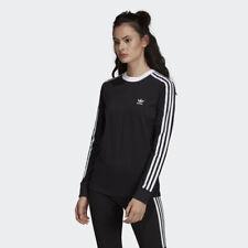 Adidas DV2608 Mujeres Originales 3S Tee camisas Mangas Largas Negro