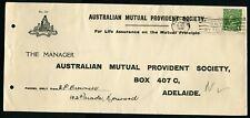 Australia 1930 AMP - Large Advertising Cover - 1d KGV Head Franking