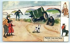 Tuck's Postcard Motor Car For Sale 9086 Tuck & Sons Green Car in River D24