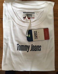 Tommy Jeans Textured Back Logo Tee.Large