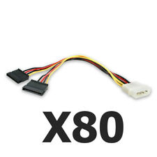 80 4 Pin IDE Male Molex to Dual SATA Y Splitter Female HDD Power Adapter Cable