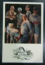 vintage 1998 professional tattooing association australia postcard  NOT MACHINE