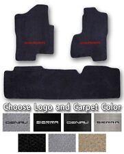 1999-2016 GMC Sierra 3pc Sport Carpet Floor Mats - Choose Color & Official Logo
