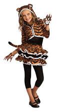 Girls Tigress Tiger Hoodie Costume Tutu Animal Print Dress Child Size Md 8-10