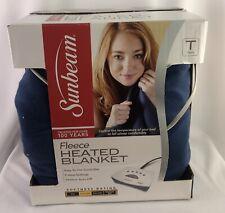 Heating Blanket Fleece Twin Size Blue