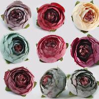 10Pcs Various Artificial Silk Fake Rose Flower Heads Bulk Wedding Party Decor