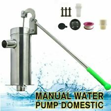 Home Manual Water Pump Stainless Steel Domestic Hand Shake Suction Pump NEW