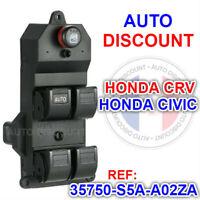platine bouton commande leve vitre honda CR-V  35750S5AA02ZA  HONDA CRV