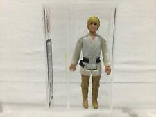 KENNER Star Wars Vintage 1977 de Luke Skywalker amarillo pelo UKG Hong Kong 80%