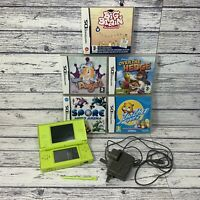 Nintendo DS Lite Green With Games And Charger Bundle