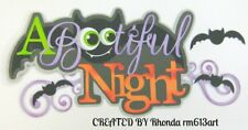 HALLOWEEN Bootiful Night paper piecing TITLE Premade Scrapbook Pages  by Rhonda