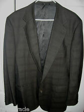 Mens Brown Plaid JOSEPH ABBOUD Lined Wool Suit 42 Regular