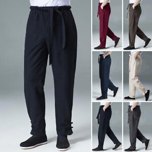 Men Kung Fu Tai Chi Pants Casual Martial Arts Trousers Bruce Lee Wing Chun Pants