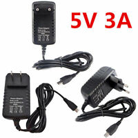 5V 3A Micro USB AC Adapter DC Wall Power Supply Charger for Raspberry Pi 3 3B