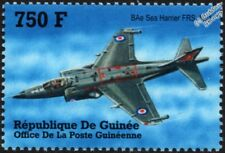 BAe SEA HARRIER FRS1 Royal Navy Strike Fighter Aircraft Stamp (2002 Guinea)
