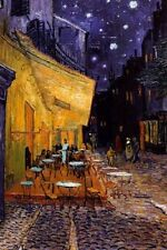 Vincent Van Gogh Poster Art Print Cafe Terrace at Night Wall Art Home Decor