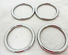 Set of 4 Stainless Steel Rings Martingale Breast Collar Dees Horse Tack Sizes