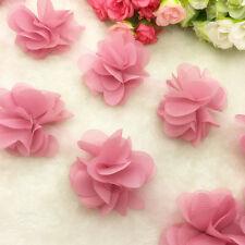 New 1 Yard  Pale Mauve Flower Chiffon Wedding Dress Bridal Fabric Lace Trim