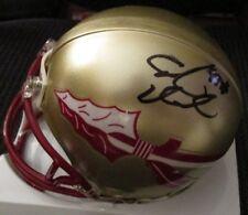 Cornellius Tank Carradine Signed Florida State Fsu Seminoles Mini Helmet w/ Coa