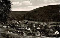 Enzklösterle bei Wildbad im Schwarzwald s/w AK 1960 gelaufen Gesamtansicht Wald