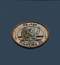 VFA-32 SWORDSMEN US NAVY BOEING F-18 F-18F SUPER HORNET RHINO Des Squadron Patch