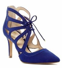 Vince Camuto Ballana Coastal Blue Pumps Leather High Heel Shoes Size 9.5 M