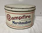 Vintage Campfire Marshmallow Tin 5 LB Milwaukee WI Cambridge MA Candy Food Ad