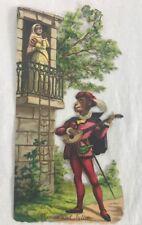 Anthropomorphic Victorian Die Cut Scrap Scrapbook Piece Monkeys Romeo & Juliet