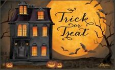 MatMate Door Mat Trick Treat Halloween doormat recycled rubber non-slip 18x30