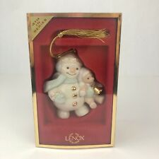 Lenox 4th in Series Snow Man Teddy Bear Christmas Ornament American by Design