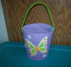 Easter Jubilee Lavender Yellow Butterfly Felt Basket ~Any Occasion~Easter Basket