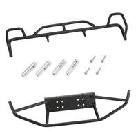 Tube Bumper Front & Rear Bumper Set for 1:10 RC Car Rock Crawler Parts Black