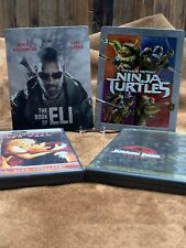 Blu-Ray & DVD SteelBook Lot - The Book Of Eli, Ninja Turtle, Jurassic Park