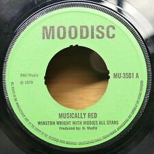 "Winston Wright/Mudies All Stars ""Musically Red / Bratah"" Moodisc Reggae 45 mp3"