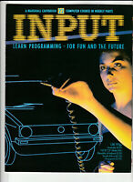 INPUT Vintage Computer Programming Magazine Issue 22 From 1984