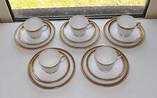 Bell China Shore & Coggins England Art Deco 5 x Trio Cup Saucer Plate Greek Key