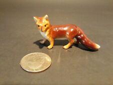 Mini Fox Figurine Porcelain