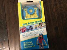 Kids Children Action Camera Waterproof Blue Yellow Video Cam New Opened Box