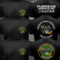 Mexico GAFEs Fuerzas Especiales Special Force Ops Army Military Black T-shirt